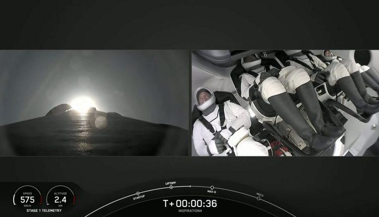 Despegó con éxito el primer vuelo espacial con turistas: Inspiration4